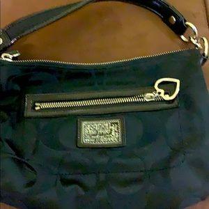 Coach signature sateen bag in black